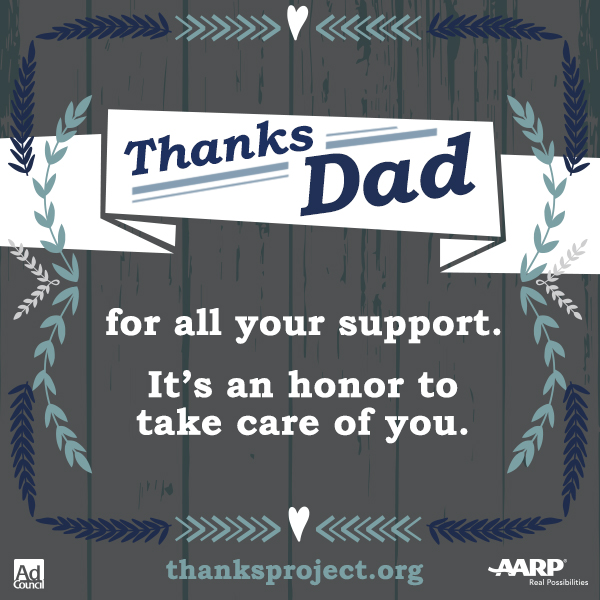 Caring For Our Parents Resources and the #ThanksProject by AARP
