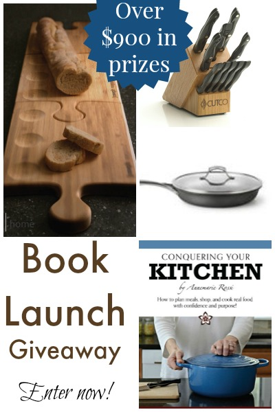 $900+ value giveaway for the book launch of Conquering Your Kitchen