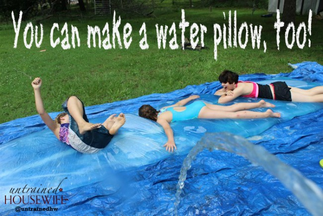 Make Your Own Water Pillow