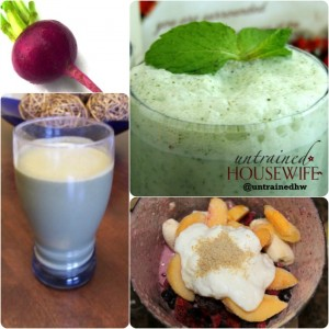 Smoothie Recipe Roundup on Untrained Housewife