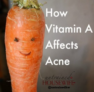 How Does Vitamin A Affect Acne?