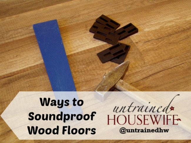 Ways to help wooden floors be more soundproof