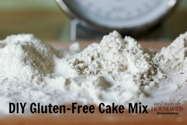 Make your own gluten free cake mix