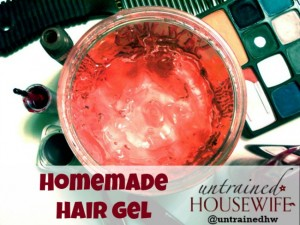Make your own hair gel