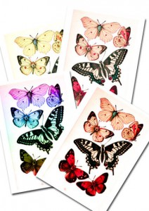 Printable Butterflies Collage Pack