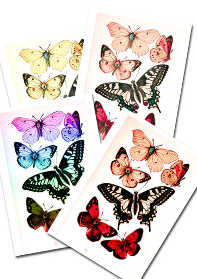 Printable Butterflies Collage Pack preview
