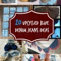 20 Upcycled Blue Denim Jeans Ideas