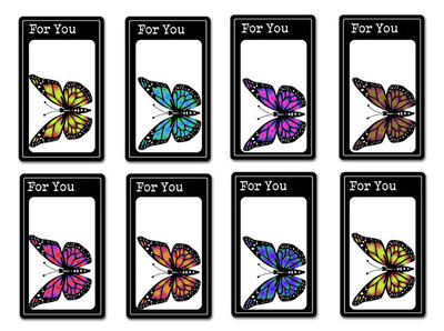 Printable Butterfly Gift Tags preview
