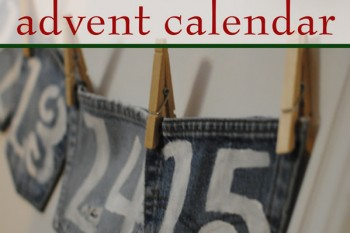 Upcycled Denim Pocket Advent Calendar