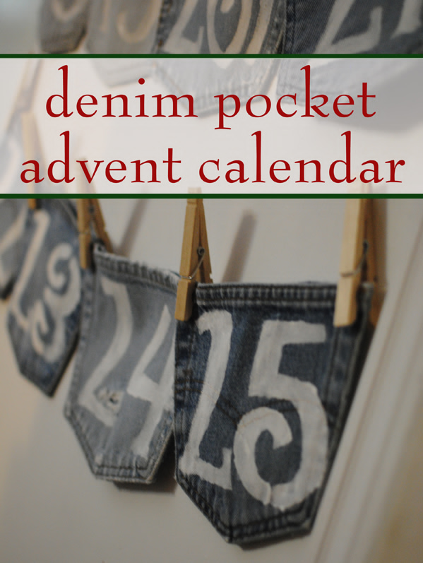 Upcycled Denim Pocket Advent Calendar
