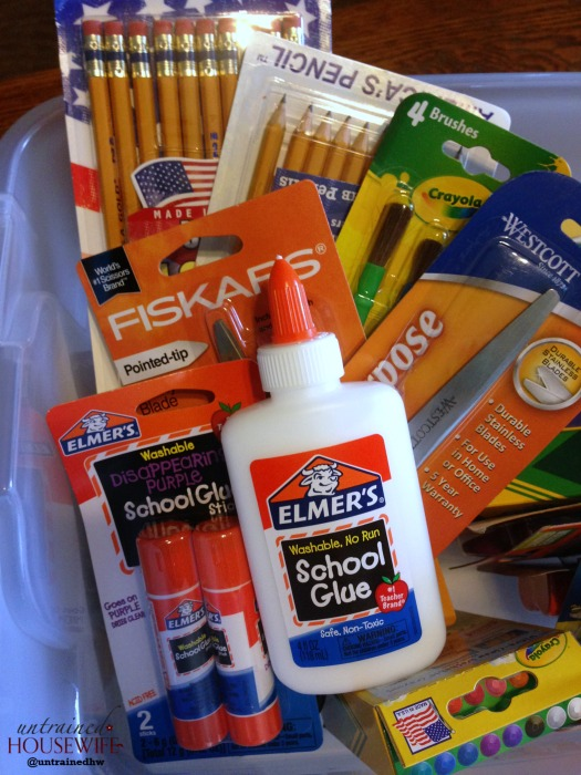 What supplies will you donate for kids in need this year