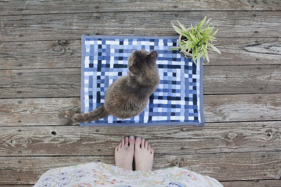 Woven Denim Rug or Trivet DIY