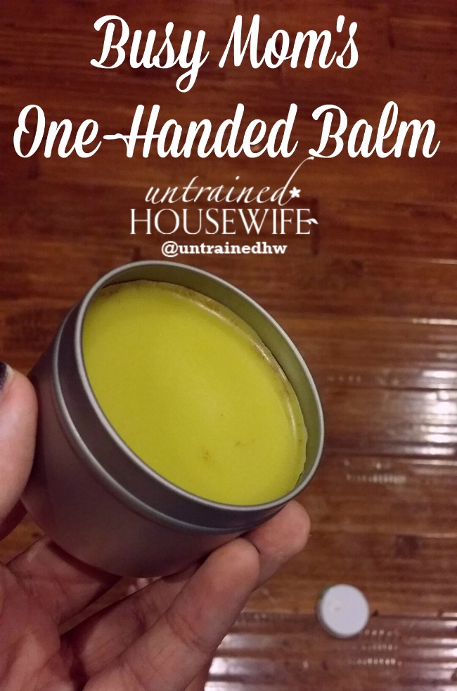 Make your own healing balms, even when you're too busy to use both hands