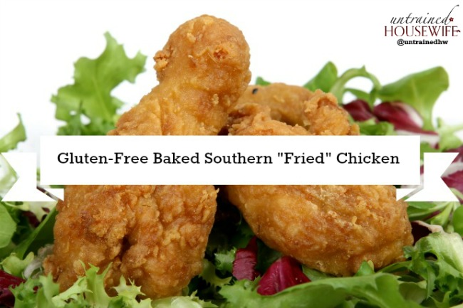 """Make authentic southern """"fried"""" chicken, but gluten-free and baked!"""