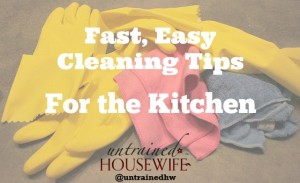 Fast, Easy Cleaning Tips for the Kitchen