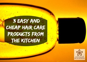 3 Easy and Cheap Hair Care Products From the Kitchen