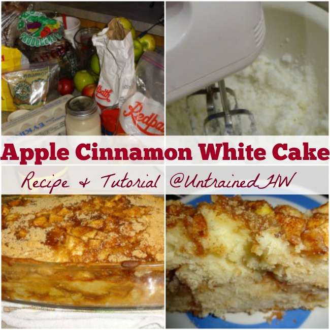 Apple Cinnamon White Cake recipe and tutorial @UntrainedHW