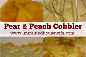 Pear and Peach Cobbler