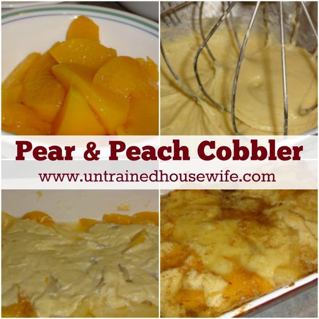 Pear and Peach Cobbler