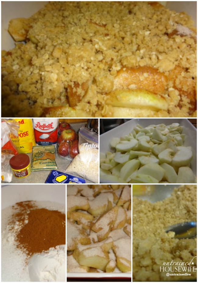 A delicious apple crisp is just a few steps away!