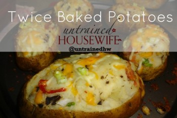 Twice baked potatoes are rich, delicious, and excellent for fall meals.