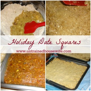 Classic Date Squares for your holiday menu