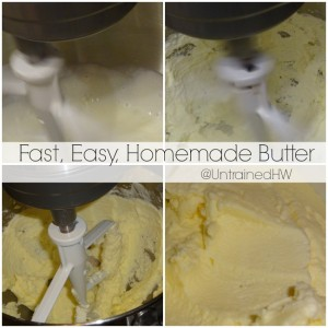 Making your own butter is a snap with just some milk and a mixer.