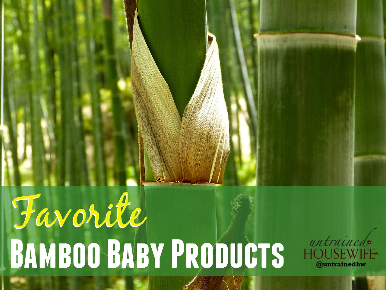 Favorite Bamboo Baby Products