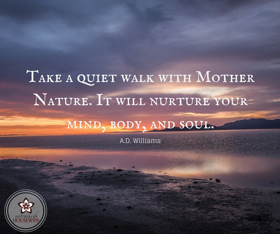 Take a walk with Mother Nature. It will nurture your mind, body and soul. A.D. Williams ---- Nature Inspired Games and Activities to Enjoy as a #Family! @UntrainedHW