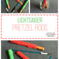 Lightsaber Pretzel snack for a kid's Star Wars theme party of fun day