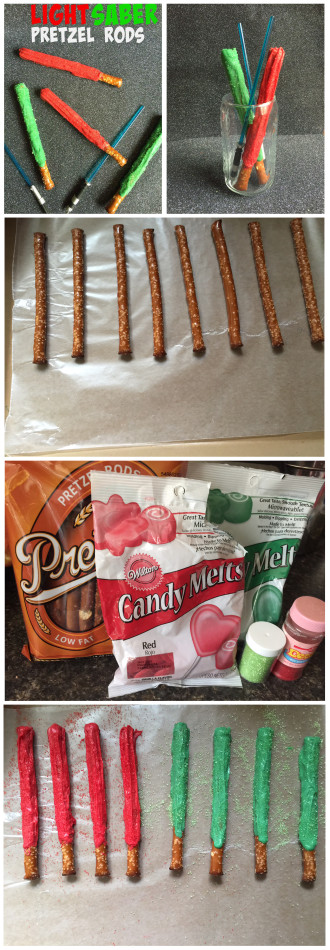 Lightsaber Pretzels #Recipe Super Fun for Kids and Adults! @UntrainedHW #StarWars