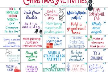 Family Activities Advent Calendar {Free Printable!}