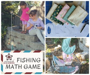 Math Fishing Game - Magnet numbers for hand's on addition, subtraction, and multiplication practice.