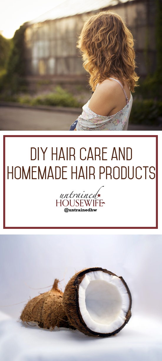 DIY Hair Care Homemade Hair Products @UntrainedHW #homemade