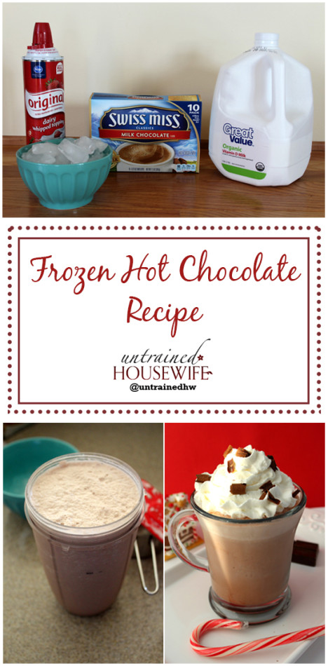 Frozen Hot Chocolate Recipe @UntrainedHW #diy #homemade