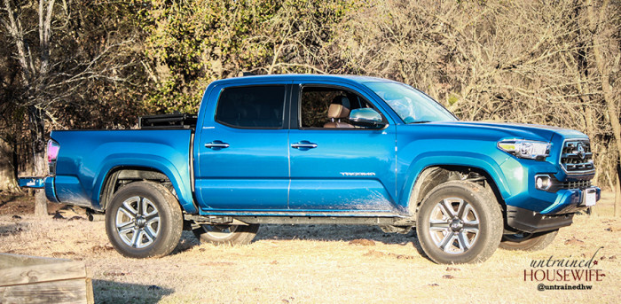 Reviewing the Toyota Tacoma 2016 model on a homestead.
