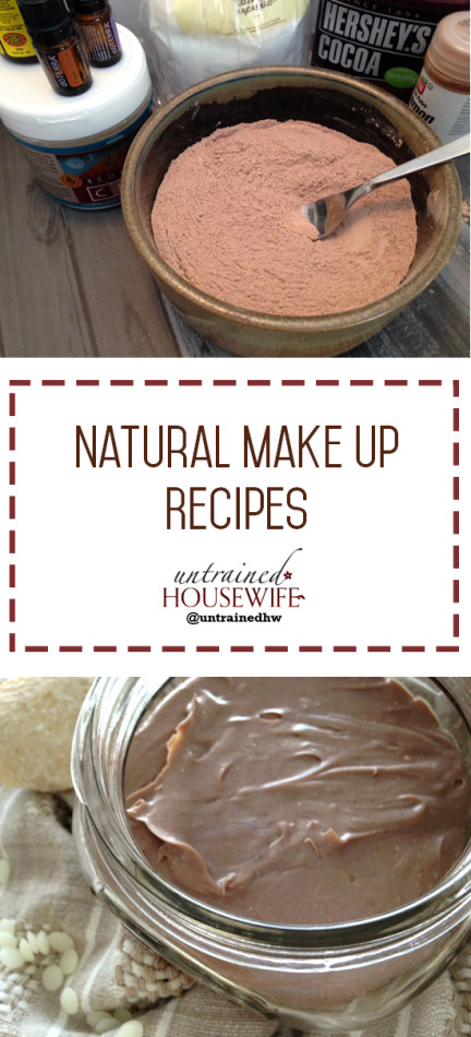 Natural Make-Up Recipes @UntrainedHW #diy #homemade #easy