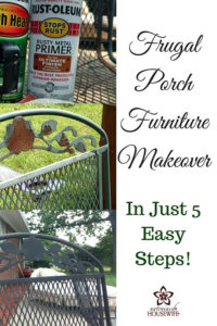 Frugal Porch Furniture Makeover In Just 5 Easy Steps