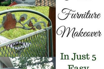 Frugal Porch Furniture Makeover In Just 5 Easy Steps
