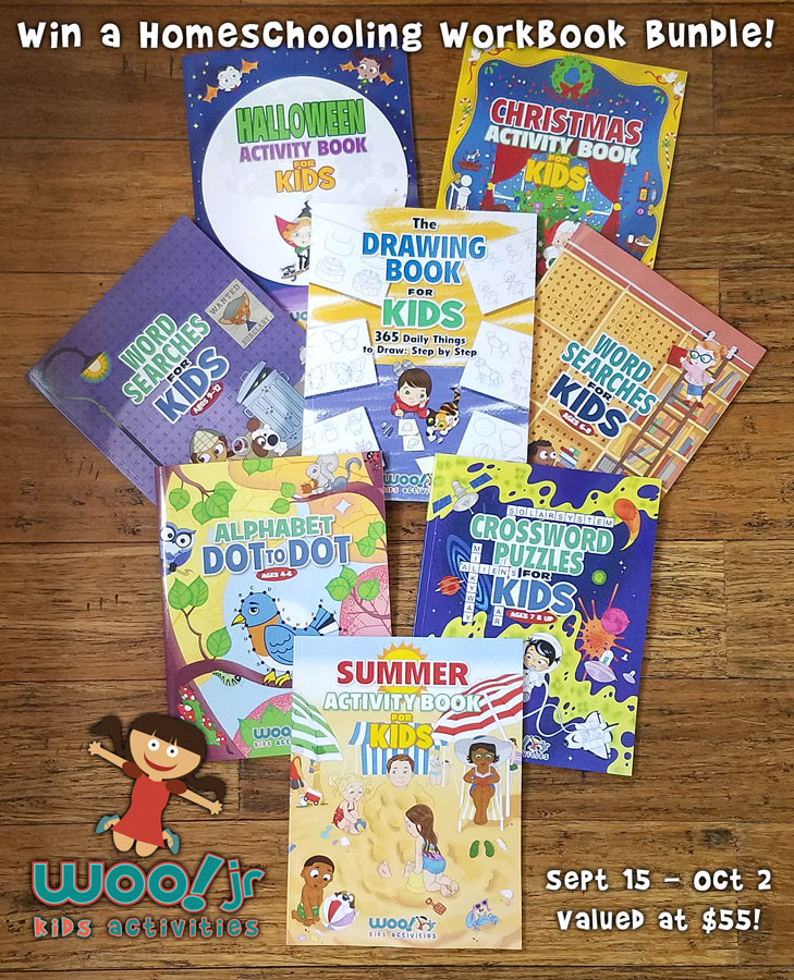Woo! Jr. Kids Activity Books Giveaway